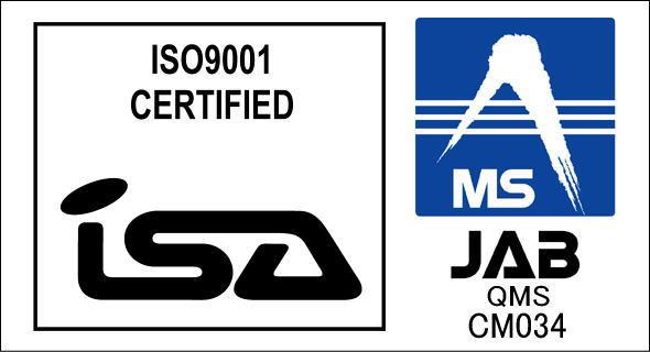 ISO9001認証保有で安心の品質保証